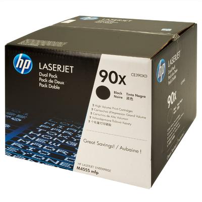 HP - HP CE390XD (90X) SİYAH ORJİNAL TONER İkili Paket M4555 / M601 / M602 / M603