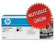 HP - HP CE740A (307A) SİYAH ORJİNAL TONER (Kutusuz Ürün)