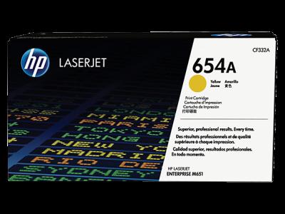 HP - HP CF332A (654A) SARI ORJİNAL TONER LaserJet M651