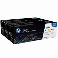 HP - HP CF372AM (CC531A+CC532A+CC533A) 304A 3LÜ PAKET ORJİNAL TONER