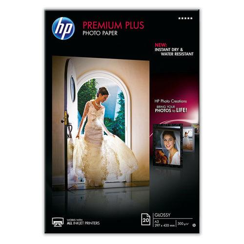 HP CR675A Premium Plus Parlak Fotoğraf Kağıdı, 20 yaprak/A3/297 x 420 mm