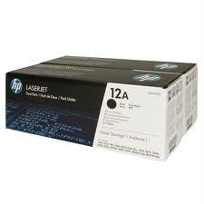 HP - HP Q2612AD (12A) SİYAH 2Lİ PAKET ORJİNAL TONER