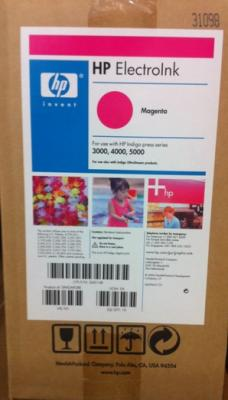 HP - HP Q4014B KIRMIZI ORJİNAL INDIGO MÜREKKEBİ (4lü PAKET) Digital Press 3000, 4000, 5000