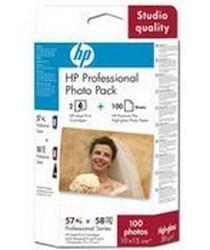 HP - HP Q7954A 57 + 58 Multipack Kartuş + 100 Fotoğraf Kağıdı