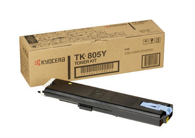 KYOCERA - KYOCERA TK-805Y SARI ORJİNAL TONER KM-C850