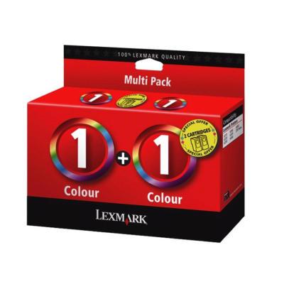 LEXMARK - LEXMARK 1 RENKLİ KARTUŞ 2li PAKET (80D2955) X2300 / X2310 / 2330 / 2350