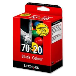 LEXMARK - LEXMARK 70+20 SİYAH+RENKLİ 2li PAKET ORJİNAL KARTUŞ F4270 X4250 X125 Z11