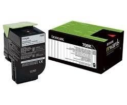 LEXMARK - LEXMARK 70C80K0 708K SİYAH ORJİNAL TONER CS310/CS410/CS510
