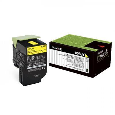 LEXMARK - LEXMARK 808SY SARI ORJİNAL TONER (80C8SY0) CX310 / CX410 / CX510