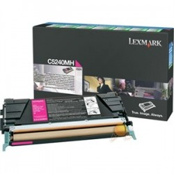 LEXMARK - LEXMARK C5240MH KIRMIZI ORJİNAL TONER C524 / C534