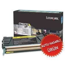 LEXMARK - LEXMARK C746A1YG SARI KUTU HASARLI ORJİNAL TONER C746 / C748
