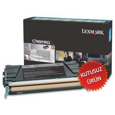LEXMARK - LEXMARK C746H1KG SİYAH KUTUSUZ ORJİNAL TONER C746 / C748 - YÜKSEK KAPASİTE