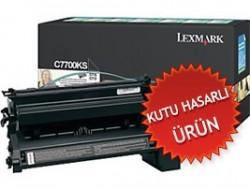 LEXMARK - LEXMARK C7700KS SİYAH ORJİNAL TONER-C770/C772 (Kutu Hasarlı)
