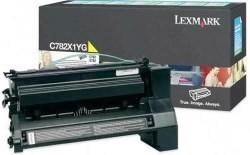 LEXMARK - LEXMARK C782X1YG SARI ORJİNAL TONER C782 / X782e 15.000 Sayfa