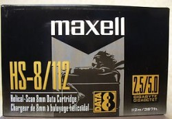 - MAXELL 8mm 112m 2.3 GB/4.6 GB HS-8/112 DATA KARTUŞ