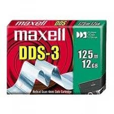 - MAXELL DDS-3 HS4-125s 12 GB / 24 GB 125m, 4mm DATA KARTUŞU