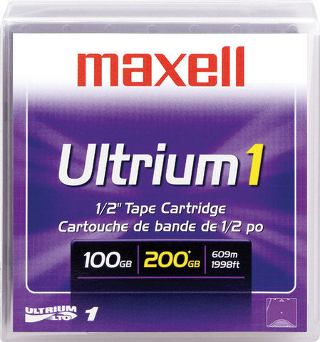 MAXELL LTO-1 Ultrium DATA KARTUŞ 100 GB / 200 GB 609m, 12,65mm
