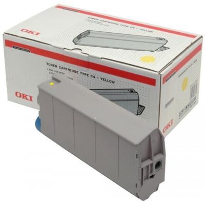 OKI - OKI 41963005 SARI ORJİNAL TONER - OKI C7100/C7300/C7500