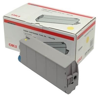 OKI - OKI 41963083 SARI RENKLİ ORJİNAL TONER - OKI C7100/C7300/C7500 TONERİ