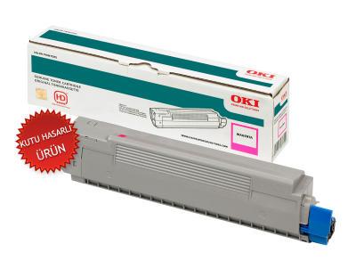 OKI - OKI 42918962 KIRMIZI ORJİNAL TONER - (Kutu Hasarlı Ürün) C9600 / C9800 / C9650