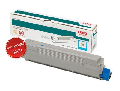 OKI - OKI 42918963 MAVİ ORJİNAL TONER - (Kutu Hasarlı Ürün) C9600 / C9800 / C9650