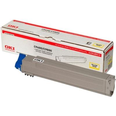 OKI - OKI C9600 / C9800 / C9650 42918961 SARI ORJİNAL TONER