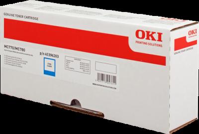 OKI - OKI MC770 MAVİ ORJİNAL TONER (45396203)