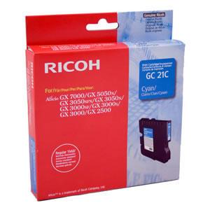 RICOH - RICOH GC21C MAVİ ORJİNAL KARTUŞ GX2500, GX3050, GX3000, GX5050