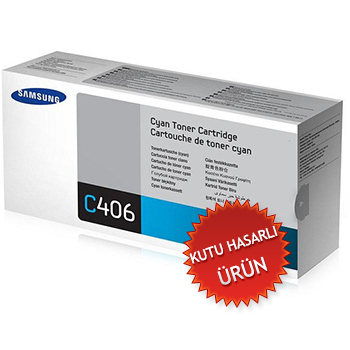 CANON - SAMSUNG CLT-C406S MAVİ ORJİNAL TONER (Kutu Hasarlı Ürün)
