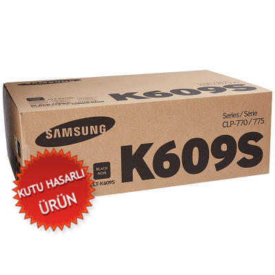 SAMSUNG - SAMSUNG CLT-K609S SİYAH KUTU HASARLI ORJİNAL TONER CLP-770N / CLP-775ND