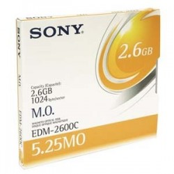 - SONY EDM-2600B 5.25 2.6 GB KAPASİTELİ MANYETİK OPTİK DİSK