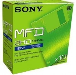 - SONY MF2HD 3.5 HD 1,44 MB FLOPPY DISK - Biçimlendirilmiş Disket 10LU Paket