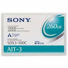- SONY SDX3-100C AIT3 100Gb/260Gb 230m, 8mm DATA KARTUŞU
