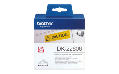 BROTHER - Brother DK-22606 Orjinal Sarı Etiket Rulosu 62mm x 15.24m