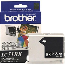 BROTHER - BROTHER LC51BK SİYAH ORJİNAL KARTUŞ DCP-130C / DCP-330C / MFC-440CN