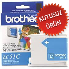 BROTHER - BROTHER LC51C MAVİ ORJİNAL KARTUŞ (U)