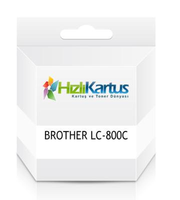 BROTHER - Brother LC-800C Mavi Muadil Kartuş