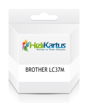 BROTHER - Brother LC37m (LC-37M) Kırmızı MuadilKartuş DCP-110C/120C/310C