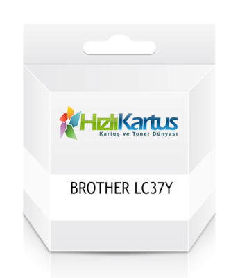 BROTHER - Brother LC37Y (LC-37Y) Sarı Muadil Kartuş DCP-110C/120C/310C