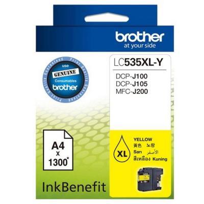 BROTHER - BROTHER LC535XLY SARI ORJİNAL KARTUŞ Yüksek Kapasite DCP-J105 / MFC-J200