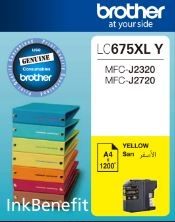 BROTHER - BROTHER LC675XLY SARI ORJİNAL KARTUŞ Yüks. Kap. MFC,J2320/J2720