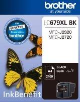 BROTHER - BROTHER LC679XLBK SİYAH ORJİNAL KARTUŞ Yüks. Kap. MFC-J2320/MFC-J2720
