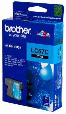 BROTHER - BROTHER LC67C MAVİ ORJİNAL KARTUŞ DCP-585 / MFC-5490 / MFC-6490