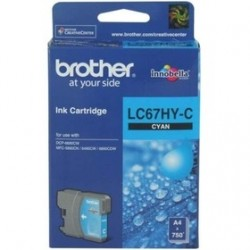 BROTHER - Brother LC67HY-C Yüksek Kapasite Mavi Orjinal Kartuş - DCP585 / DCP6690CW