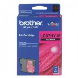 BROTHER - BROTHER LC67HY-M KIRMIZI ORJİNAL KARTUŞ YÜKSEK KAPASİTE