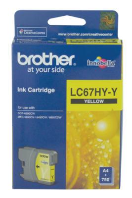 BROTHER - BROTHER LC67HY-Y SARI ORJİNAL KARTUŞ YÜKSEK KAPASİTE