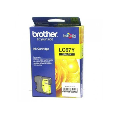 BROTHER - BROTHER LC67Y SARI ORJİNAL KARTUŞ DCP-585 / MFC-5490 / MFC-6490