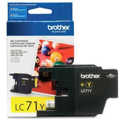 BROTHER - BROTHER LC71Y SARI ORJİNAL KARTUŞ MFC-J280W / J425W / J625DW / J825DW