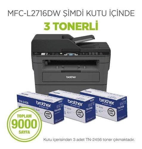 Brother MFC-L2716DW Fotokopi + Tarayıcı + Faks + Wi-Fi Laser Yazıcı (3 Tonerli)