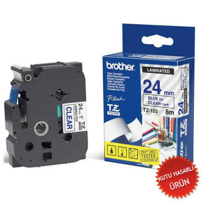BROTHER - BROTHER TZ-153 (24MM) MAVİ LAMİNE ETİKET (C)